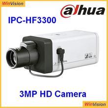PoE/WiFi/SD Card optional H.264 3mp Full HD IP Camera Dahua IPC-HF3300