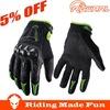 Rigwarl 2014 HOT Full Finger Black & White Motorcycle Racing Gloves