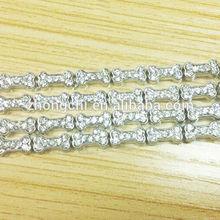 Crystal dog bones, alloy crystal bones, clear crystal charms for lockets