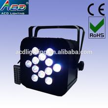 HOT 12*15w 5in1 rgbwa battery power & wireless dmx led par battery power led lights,wireless battery powered led par