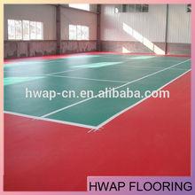 Indoor badminton sports flooring litchi pattern flooring stock