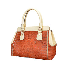 Popular Women Genuine Exotic Leather Crocodile Skin Hand Shoulder Bag Handmade