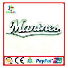 Auto emblemas nomes de carros de marca lettering logotipo chrome carro de plástico