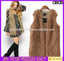 Wholesale waistcoat Knitted Short Fur Vest Women with Tassel WWT16602