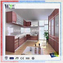 Wecan aluminum composite panel design panel wallpaper for kitchen washable