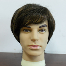 natural hair wig for men,gray hair wig for men with toupee