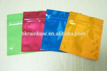 shinning red black ziplock tear notch pouches/aluminum foil seal bag