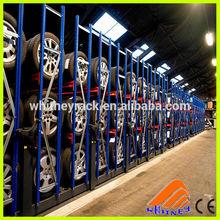 Heavy duty truck spare storage tire pallet rack, metal display tire shelf, de armazenamento de pneus