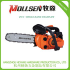 Single hand chainsaw 2 stroke gasoline 26cc for cutting tree branch trimmer saw