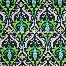 Venda quente impressão poliéster design clássico tecido étnica