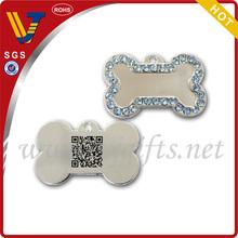 custom metal qr code pet tags /tags for dog