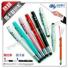 New 2014 Christmas gift ! Promotional pen ! Capacitive Laser stylus pen & light pen & ball pen