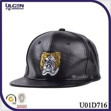 Popular European style snapback blank hat leather