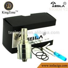 New dry herb vaporizer Tesla storm v2 rda atomizer 94f dry herb vaporizer for wholesale
