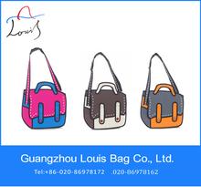 Hot sale magical organizer shoulder bag,fashion side bags for girls,3D printing shoulder bag