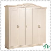 White Antique bedroom wardrobe HA-808B# Bedroom Wooden Clothes Wardrobe Design Pictures Wooden Wardrobe Designs
