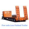 60-200T Hydraulic Lifting Lowboy,Lowboy Dolly Semi Trailer