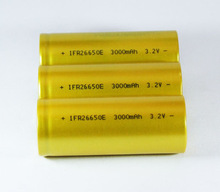 lifepo4 26650 rechargeable battery 3.2v 3000mah for electric vehicle