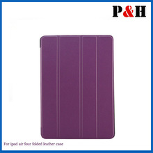 PU Leather Multi-Folding Folio Wallet Case for Apple iPad Air