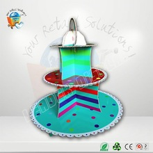 Customized restaurant spoon fork knife sets wedding cupcake stand pmma plexi perspex acrylic cake stand tier