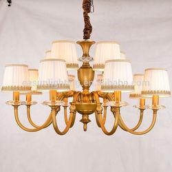 Iron brass cooper luxury cristal chandelier light for dining room