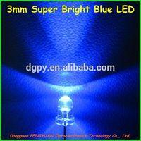 3mm Super Bright Blue LED/Ultra Bright blue led ( CE & RoHS Compliant )