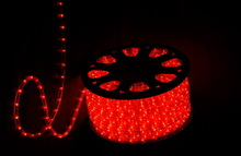 110V waterproof 100m round 2 wire red color led light swimming pool rope light