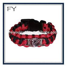 Hot sales Atlanta Falcons team logo paracord bracelet