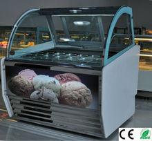 Curved Glass Door Ice Cream Freezer
