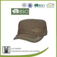 BSCI Audit 2014 fashion wholesale cotton twill washed army hat