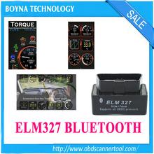 FREE SHIPPING New Version Bluetooth ELM327 V1.5 Black Super MINI ELM 327 OBD2 / OBDII Car Code Scanner Auto Reader