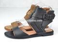 nuevo estilo de verano de cuero genuin de moda casual dama sandalia plana zapatos para 2014