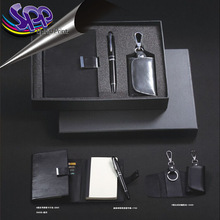 Black memo pads with pen and key roll set/business gift pads
