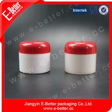 Plastic cream jar red cosmetic jars plastic jar