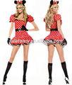 Adulto mickey minnie mouse traje adulto Fancy Dress Costumes QAWC-2307