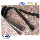 metal zipper open end with match plated color slider