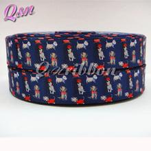 7/8 inch Printed Cute Dog Grosgrain Ribbon