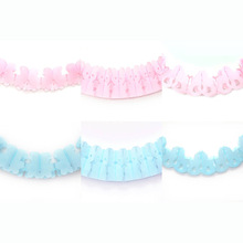 Baby Shower Party Decoration Set pink blue teddy bear, rocking horse or old fashioned pram Hunging Paper Garland BANNER BUNTING