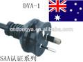 rewirable Australia power cord ,SAA male and female plug and female socket