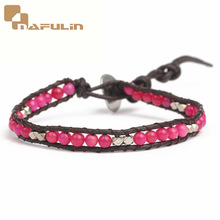 New fashion silver copper beads and malay jade amethyst shamballa wrap bracelet
