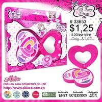 heart shape 360 rotating mirror glitter lipgloss set E33653