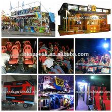 Equipamento do parque de diversões 5D 7D cinema máquina de jogo