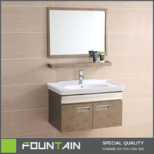 foshan factory high quality 304 stainless steel bathroom cabinet unit