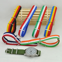 Hotsale fashion nato nylon custom printed watch strap