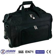 custom tote black travel bag on wheels duffle bag in trolley