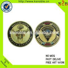 cheap enamel customized honor logo old gold coin