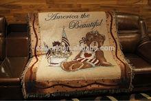 Winnie the Pooh cotton jacquard woven sofa throws blanket, custom pattern