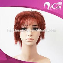 high quality Short brazilian hair grey human hair lace front wigs