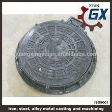 epoxy coating BS EN124 standard heavy duty cast iron manhole cover frame