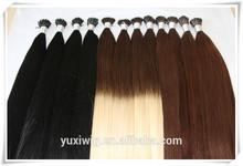 Yu Xi hair factory 1g stick tip european remy hair i tip hair extension